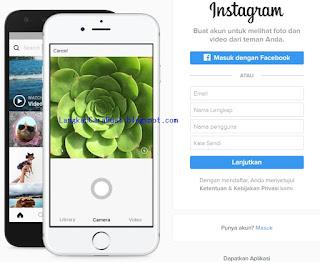 Langkah Cara Mendaftar Akun Instagram di PC Bahasa Indonesia