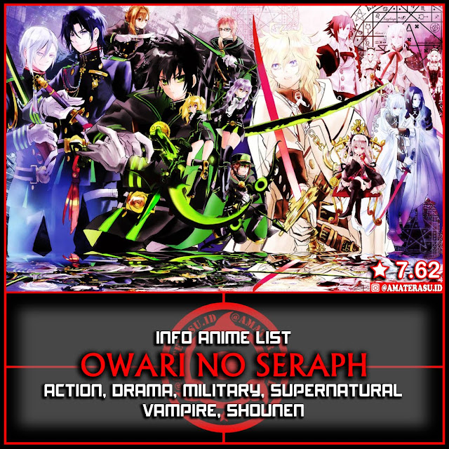 Info Anime List Owari No Seraph