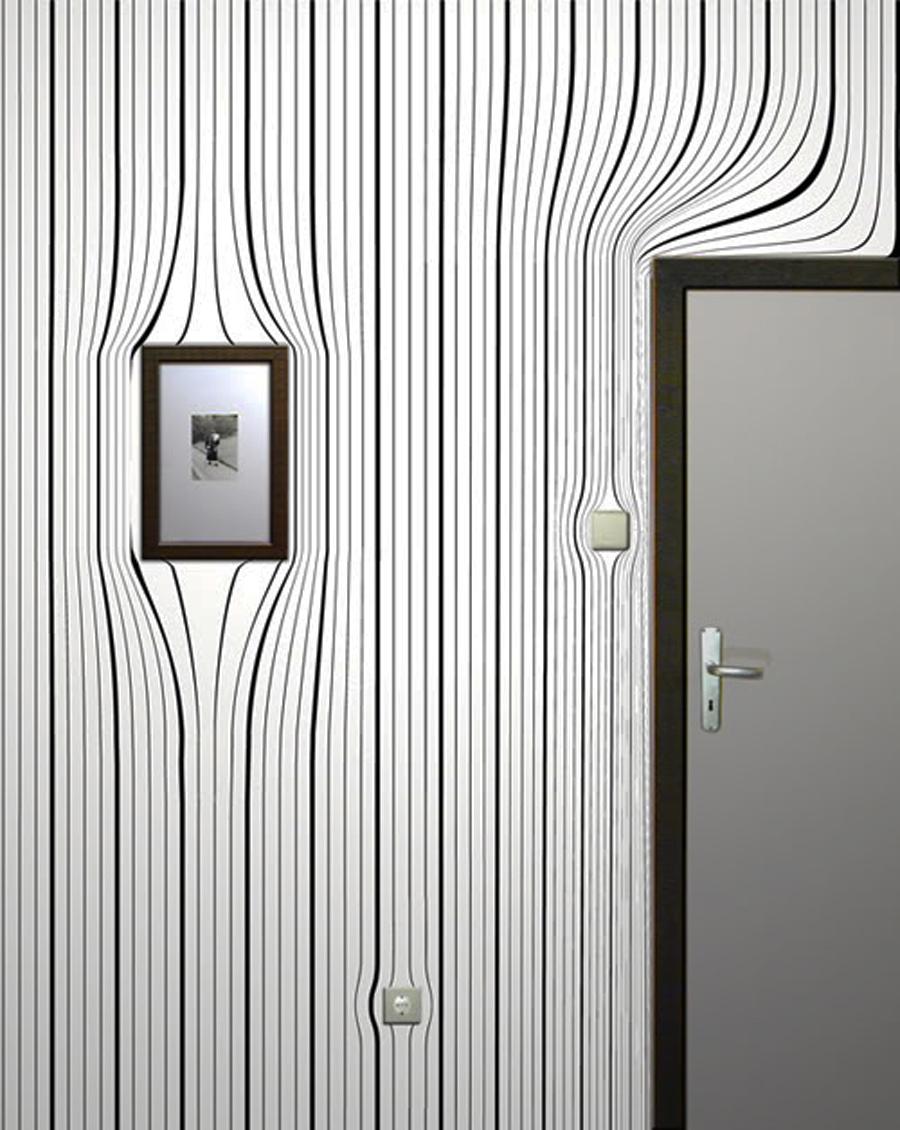 interior design information: Contemporary Surrealist Wallpapers Pattern By Surrealien