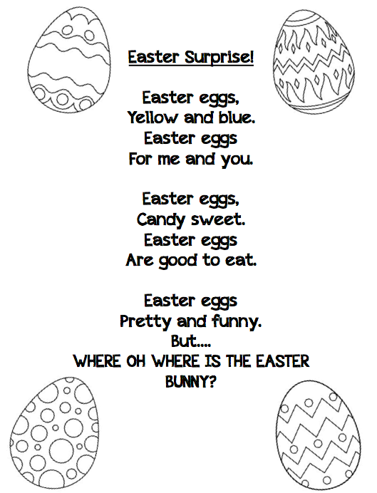 Easter poem for young children.