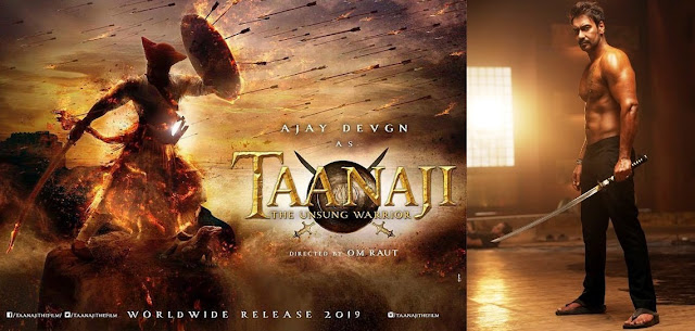 Taanaji 2019 - Ajay Devgn  Movie Poster, First look, Teaser, Trailer. Images, MP3 Songs, MP4, Heroine