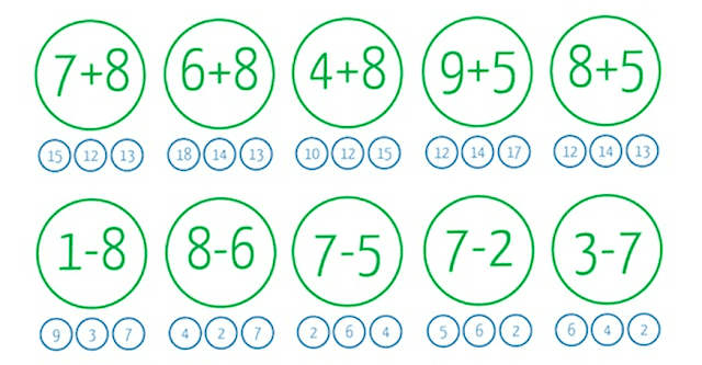 8 fichas de razonamiento matemáticos para niños de 6 y 7 años