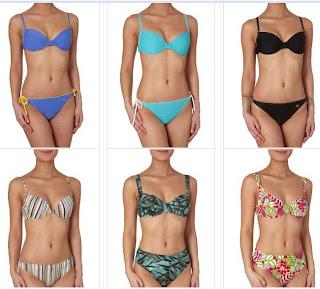 bikinis estampados lisos