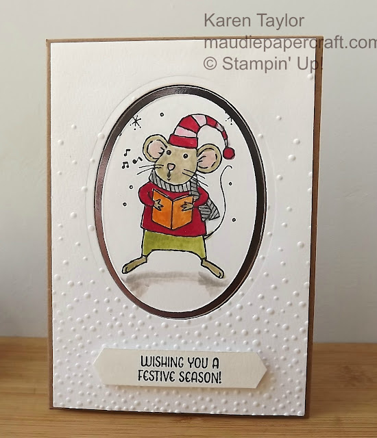 Stampin' Up! Merry Mice with Softly Falling embossing folder