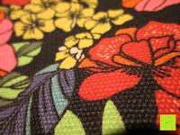 Stoff: Yogatasche »Vikram« von #DoYourYoga aus hochwertigem Canvas (Segeltuch), aufwendig verarbeitet, für Yoga- und Pilatesmatten bis zu einer Größe von 186 x 63 x 0,6 cm, in 12 wunderschönen Edel-Designs erhältlich.