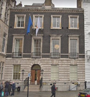 Former location of the Windham Club 13 St. James's Square, London (from Google Streetview)