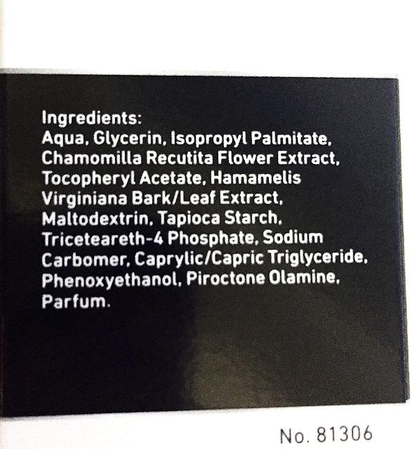 Ingredients of Nivea Men Sensitive Post Shave Balm
