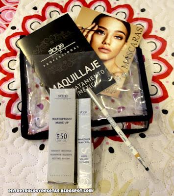 Inmediate mascara, soft liner iluminador y Waterproof Make Up SPF50