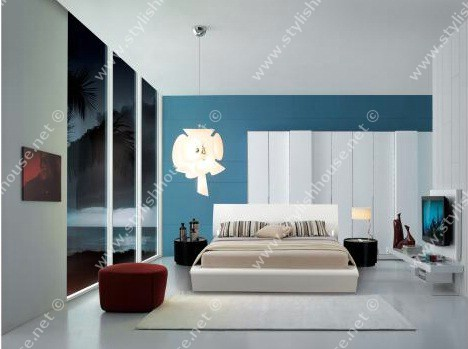 Good style of modern bedroom furniture set with Curved burnish legs