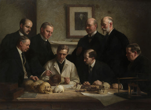 Piltdown Man. The portrait painted by John Cooke in 1915.