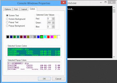 Cara Merubah Warna Font dan Background CMD