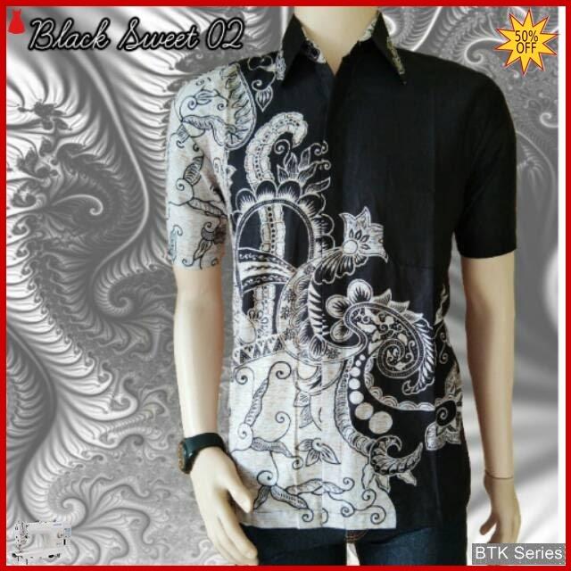 BTK141 Baju Hem Black Sweet 02 Modis Murah BMGShop