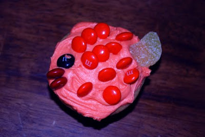 Red fish Dr. Seuss cupcake