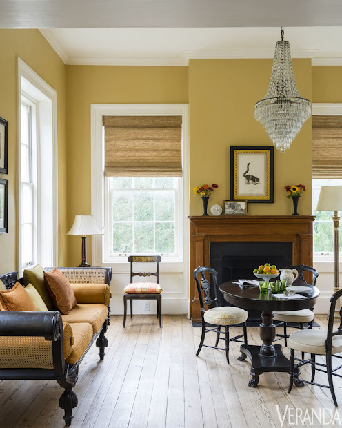 Mustard Yellow Living Room Walls