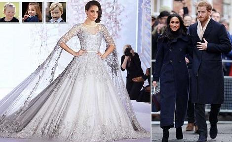 Meghan Markle's £100,000 Wedding Dress Revealed