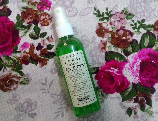 Khadi Mint and Cucumber Face Freshener : Review
