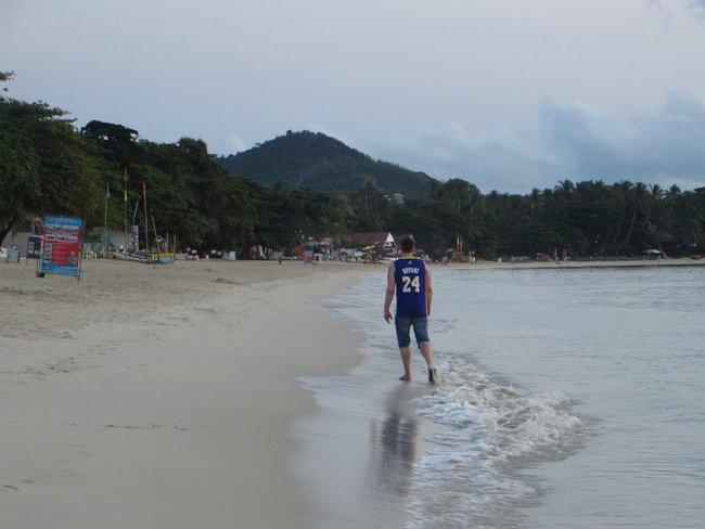Пьяный на пляже Таиланд