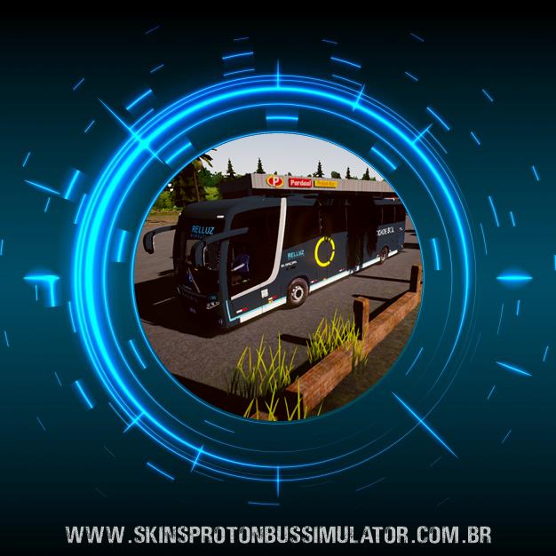 Skin Proton Bus Simulator Road - Busscar Vissta Buss MB O-500 RS BT5 Cidade Sol