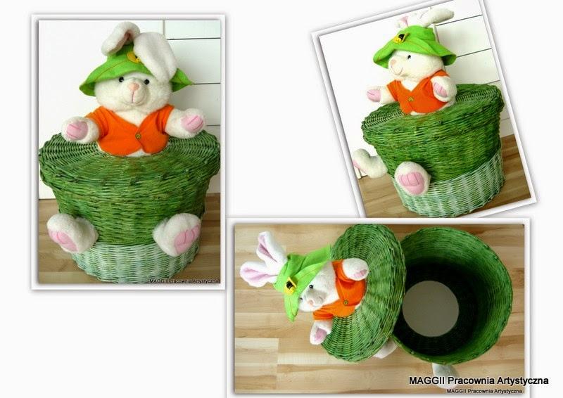http://handmadebymaggii.blogspot.com/2015/03/wielki-zielony-kosz-i-zajac-w-kapeluszu.html