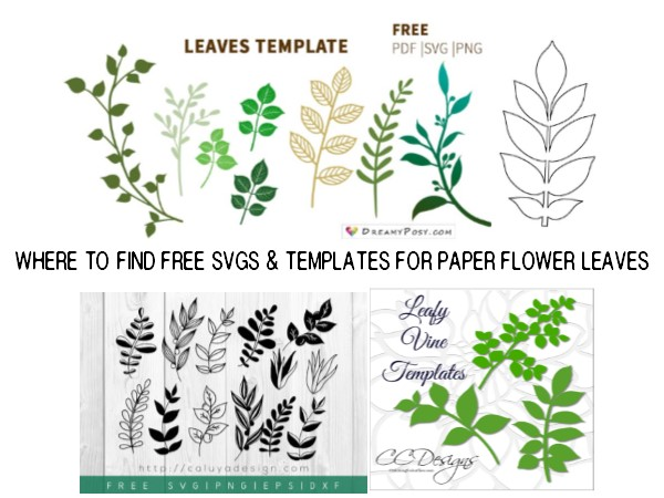 Fields Of Heather Free Templates For Large Paper Flower Leaves