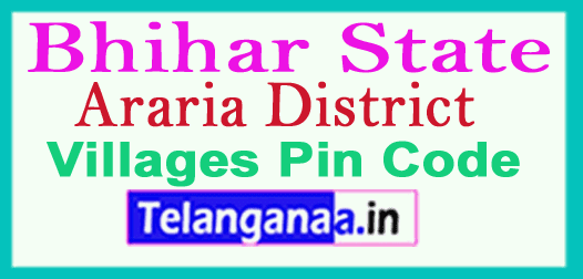 Araria District Pin Codes in Bhihar State