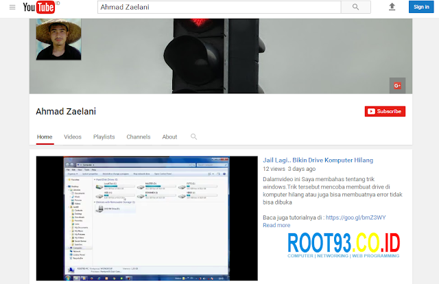 channel youtube resmi root93
