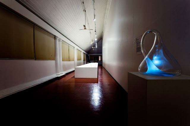 KMB_Gary Hill's installation 'Klein Bottle with the Image of Its Own Making' at Durbar Hall, Ernakulam