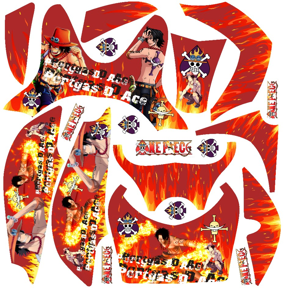 Stiker one piece custom stickers