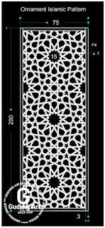 pembuatan motif ornamen masjid cor aluminium