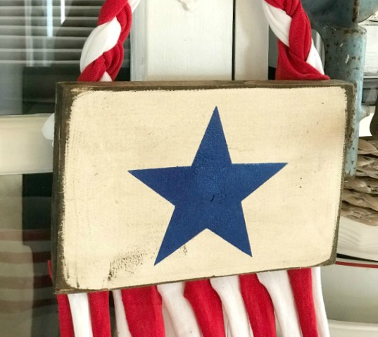 DIY Recycled T-Shirt American Flag