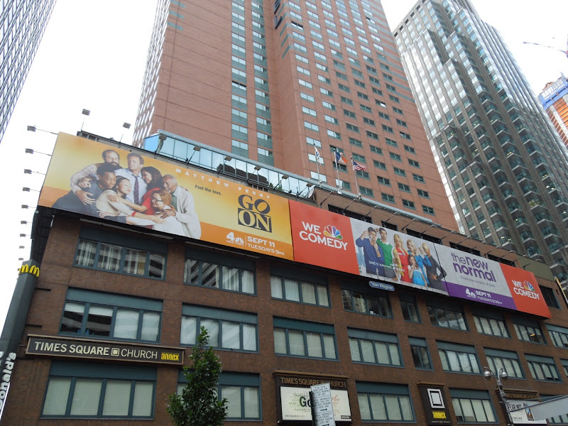 NBC sitcom billboards Broadway NYC