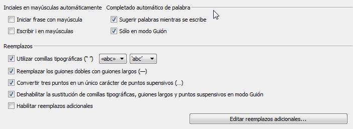 correciones en castellano scrivener