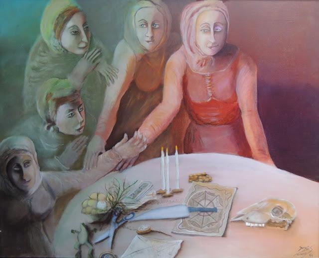 Obra de arte Sonja Sananes brujas, magia