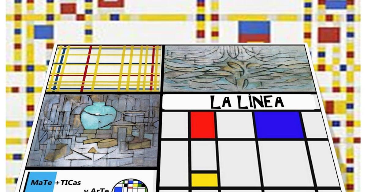 La línea y la abstracción en E.infantil. Letras, números y composiciones con líneas en el rincón de Mate+ Arte.
