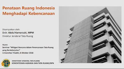 Penataan Ruang Indonesia Menghadapi Kebencanaan