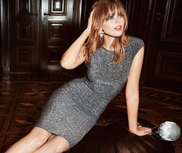 vestido de fiesta brillo H&M Navidad