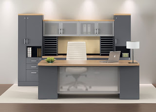 Modular Executive Office Furniture Configuration