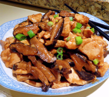 One perfect bite chinese style chicken with dried mushrooms chinese style chicken with dried mushrooms forumfinder Choice Image