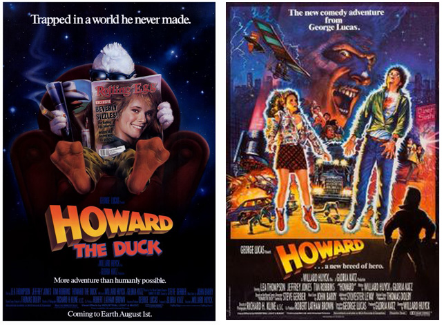 Howard The Duck Movie Poster 1986: Looking B...