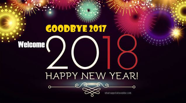 Goodbye 2017 Welcome 2018 Happy New Year Image