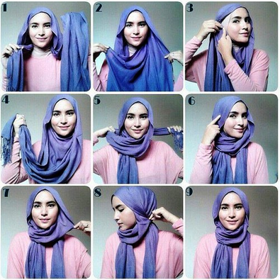 Tutorial Hijab Simple Tanpa Jarum Pentul