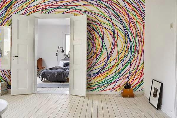 papier peint autocollant pour mur. Black Bedroom Furniture Sets. Home Design Ideas