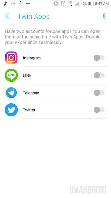 Twin App Zenfone Tanpa Aplikasi