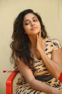 Telugu Actress Karunya Chowdary Stills in Short Dress at ATM Not Working Press Meet  0209.jpg