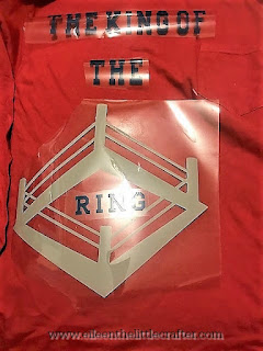 Wresting inspired iron shirt - photo taken by Eileen the little crafter