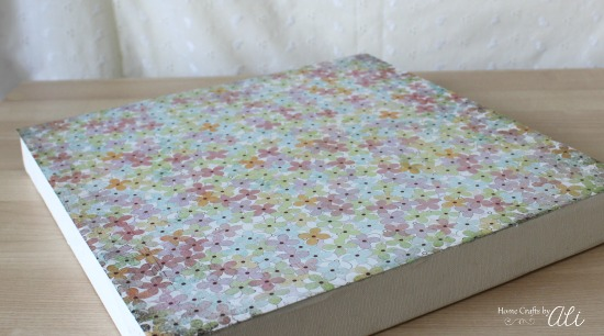 Cute and Stylish scrapbook paper on canvas