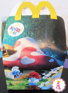 Smurfs toys from Happy Meal collection, spring 2017 in Ukraine