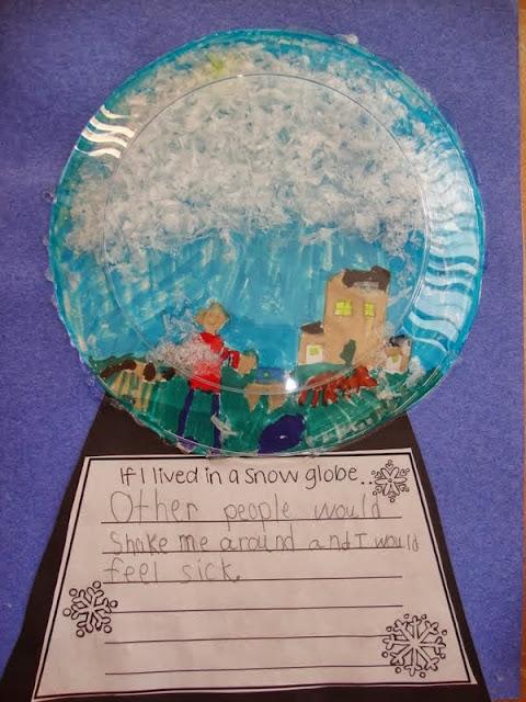 snow globe family writing activities