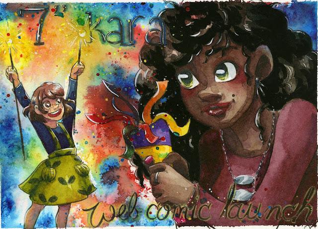 """watercolor, watercolor comic, 7"""" Kara, 7 Inch Kara, watercolor artist"""