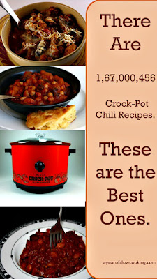 The very best CrockPot Slow Cooker Chili Recipes -- all tested and family approved!